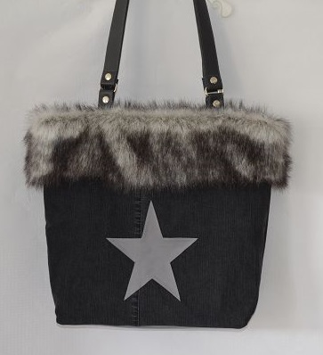 Jeans-Shopper Fake Fur