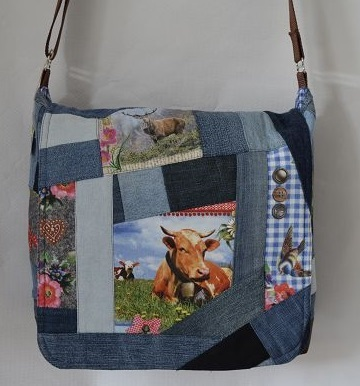 Jeans-Messengerbag Alpin
